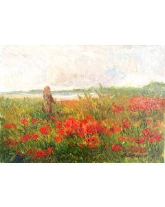Daniela Penco, Senza titolo, olio su cartone telato, 18x13 cm
