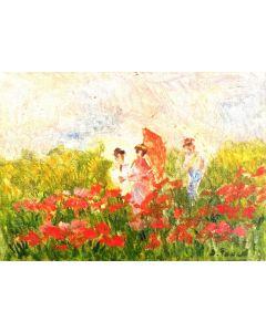 Daniela Penco, In un pomeriggio d'estate, olio su cartone telato, 18x13 cm