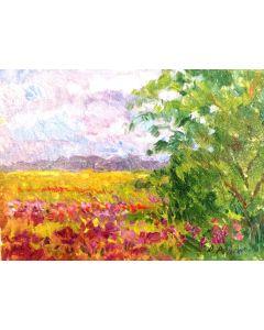 Daniela Penco, Primavera, olio su cartone telato, 18x13 cm
