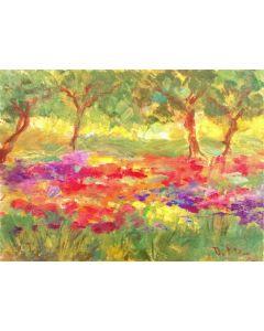 Daniela Penco, Il bosco, olio su tela, 18x24 cm
