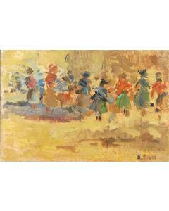 Daniela Penco, Macchie di colore, olio su cartone telato, 10 x 15 cm