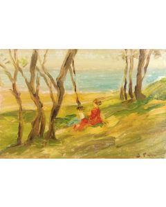 Daniela Penco, Senza titolo, olio su cartone telato, 10 x 15 cm