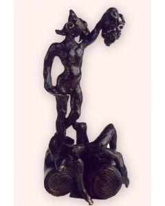 Salvador Dalì, Perseo, scultura in bronzo patinato - fusione a cera persa, 73x36,5x29,5 cm, 1975/1976
