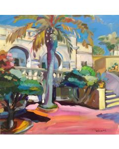 Claudio Malacarne, La palma, olio su tela, 50x50 cm