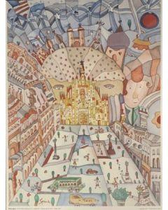 Pietro Spica, Love in Milan, poster, 60x80 cm
