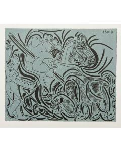Pablo Picasso, La Pique, Linoleografia, 27x32,5 cm