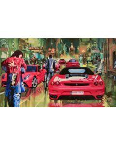 Pisati da Milano, Chapeau Ferrari, retouché, 60x100 cm