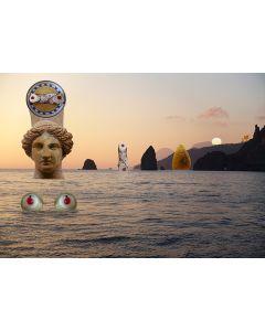 Norma Picciotto, Quello che accade è già stato, quello che sarà già è avvenuto, fotografia con elaborazione digitale, stampa su Elicobond, 100x70 cm