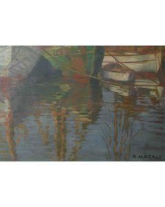 Renato Natali, Senza titolo, olio su tavola, 27x20 cm