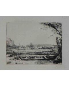 Rembrandt, Senza titolo, acquaforte, 11x13 cm
