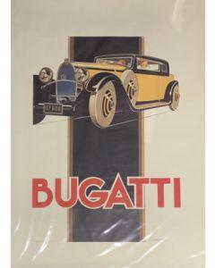 Renè Vincent, Bugatti T46, poster vintage, 68x93 cm