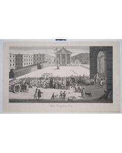 William Hogarth, Rich's triumphant entry, acquaforte, 39x52 cm