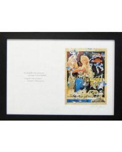 """Mimmo Rotella, La magnifica preda, serigrafia e décollage, 70x50 cm, tratta dal libro """"Bellezza eterna"""", 2005"""