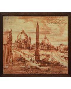 Giancarlo Prandelli, Architettura a Roma, stampa fotografica, 23x21cm (D267)