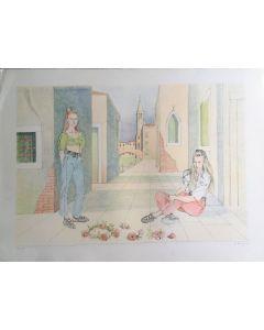 Romano Parmeggiani, senza titolo, serigrafia, 80x60 cm, 99 su 130