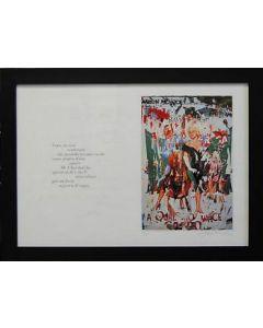 """Mimmo Rotella, A qualcuno piace caldo, serigrafia e décollage, 70x50 cm, tratto dal libro """"Bellezza eterna"""", 2005"""