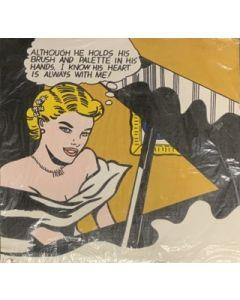 Roy Lichtenstein, Girl at piano, stampa su tela, 68x66 cm