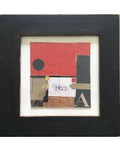 Primo Formenti, Racconto, Tecnica mista su carta, 24,5x24,5 cm