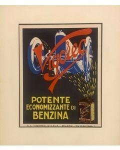 Pubblicità Vigorec, stampa vintage, 26x33 cm (37x44 cm con passepartout)