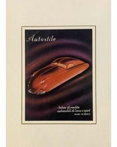 Pubblicità autostile, stampa vintage, 23,5x34 cm (35x50 cm con passepartout)