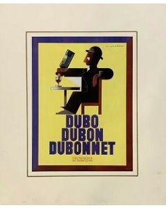 Pubblicità Dubo, pagina rivista vintage, 28x38 cm (39x48 cm con passepartout)
