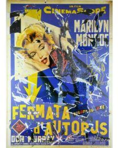 Mimmo Rotella, Fermata d'autobus, seridécollage, 100x70 cm