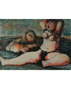 Salvatore Fiume, Poesia d'amore, litografia, 50x70 cm, 1985