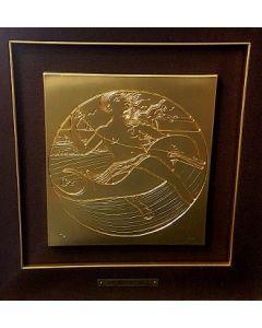 Salvador Dalì, Gli sport, bassorilievo, 54,5x55 cm (cornice compresa)