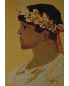 Salvatore Fiume, Eneide, Il ritratto di Virgilio, litografia, 60x80 cm, 1989/90