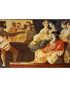 Salvatore Fiume, Eneide, Libro I, Incontro con Didone, litografia, 60x80 cm, 1989/90