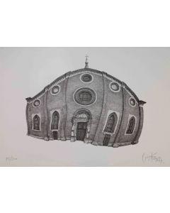 Giovanni Franzi, Santa Maria delle Grazie, litografia, 35x49 cm