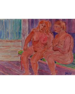 Aligi Sassu, Senza titolo, acquarello, 17x21 cm