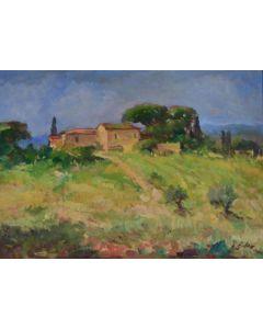 Antonio Sbrana, Senza titolo, olio su tavola, 70x51 cm