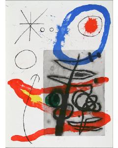 Joan Mirò, Cartons pg.23, litografia, 28x38 cm, 1965