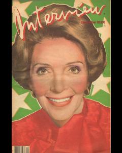 Andy Warhol, Interview – December 1981, rivista con copertina firmata dall'artista, 42,5x27,5 cm