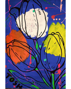 Andrew Tosh, Trio Lescano, acrilico su tela, 50x70 cm, 2017