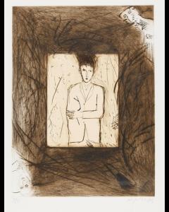Mimmo Paladino, Solo, solo, Acquatinta, acquaforte e puntasecca, 91x79 cm, (Immagine 66x49,5 cm), 1984
