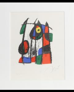 Joan Mirò, Lithograph li, litografia, 44,45x36,83 cm