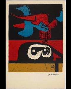Le Corbusier, Autrement que sur terre, litografia, 56x45 cm