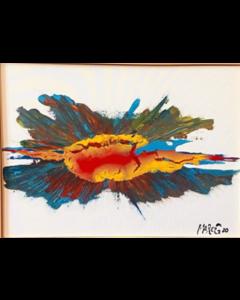 Marco Gabriele, Estasi, tecnica mista su tela, 70x50 cm, 2020