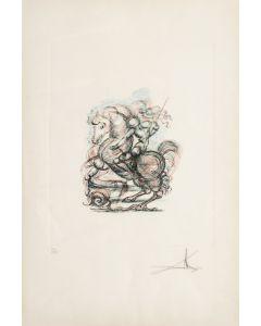 Salvador Dalì, Senza titolo, acquaforte e acquatinta, 50x70 cm