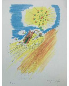 Franco Rognoni, Viaggio, serigrafia, 25x35 cm