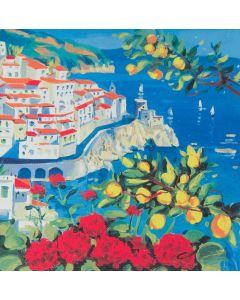 Giorgio Cesati, Costiera Amalfitana, serigrafia, 40x40 cm