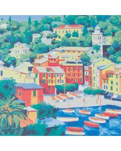 Giorgio Cesati, Portofino, serigrafia, 40x40 cm