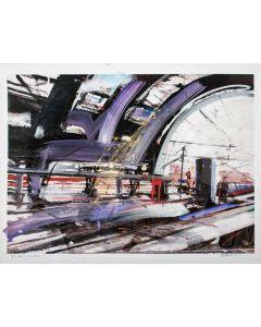 Alessandro Russo, Milano Stazione Centrale 2014, retouchè, 106,5x77 cm