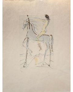 Salvador Dalì, Cantico dei Cantici, acquaforte e acquatinta a colori, 67x51,5 cm, 1972