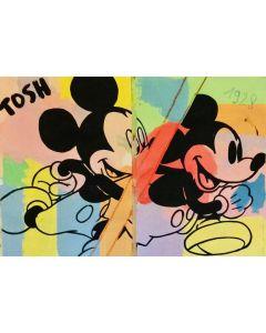 Andrew Tosh, Senza Titolo, acrilico e smalto su carta, 48x66 cm