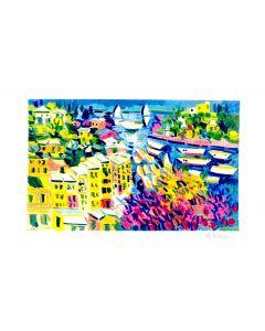 Athos Faccincani, Paesaggio, serigrafia, 35x50 cm