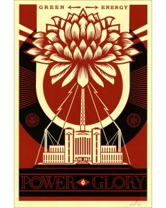 Obey (Shepard Fairey), Power Glory, serigrafia, 90x61 cm