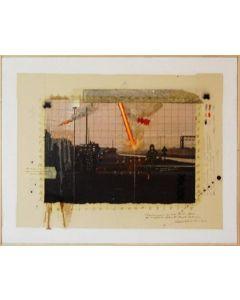 Enrico Pambianchi, Studio per deserto rosso, tecnica mista su tela, 40x50 cm, 2012